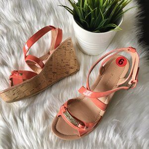 TOMMY HILFIGER Coral Strappy Wedge Sandals 6 NEW